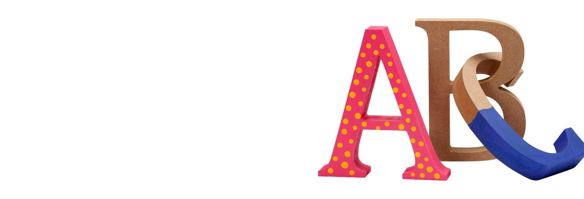 Lettres, chiffres et mots