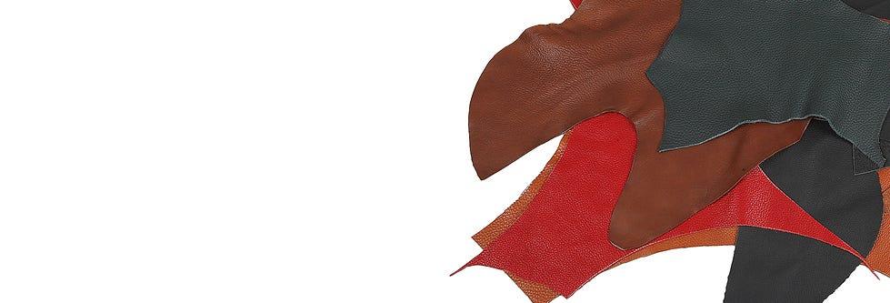 Morceaux de tissu et de cuir