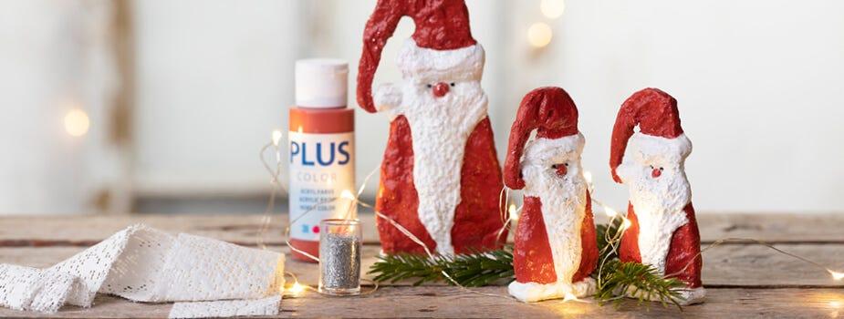 Pères Noël et lutins faits maison