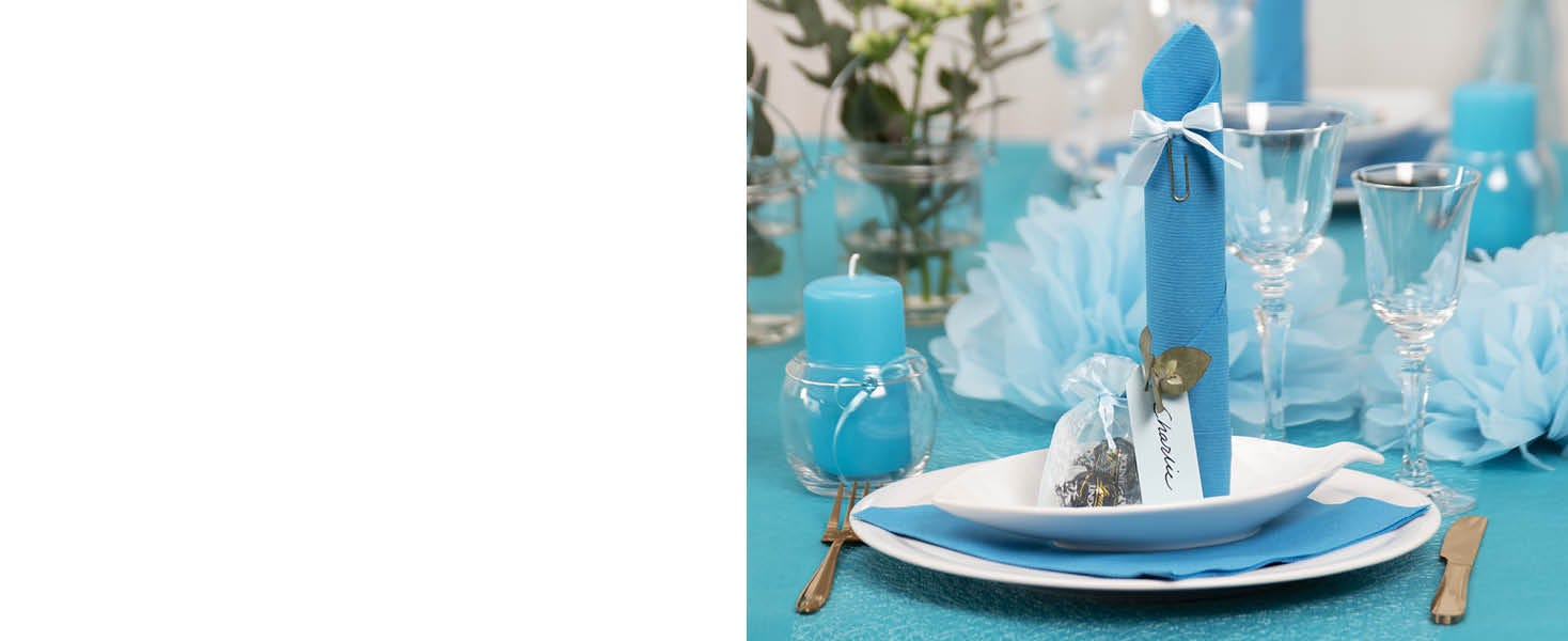 Décorations de table pour une première communion