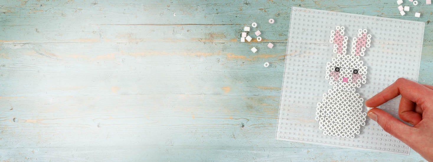 Des motifs de Pâques en perles à repasser