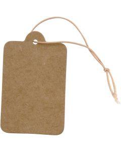 Etiquettes, dim. 25x40 mm, brun clair, 100 pièce/ 1 Pq.