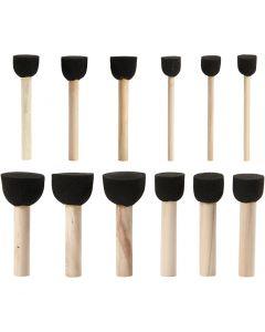 Tampons en mousse, d: 13+20+25+35 mm, 12 pièce/ 1 Pq.