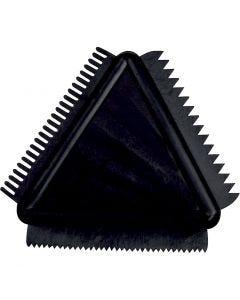 Peigne à structure en caoutchouc, dim. 9 cm, 1 pièce