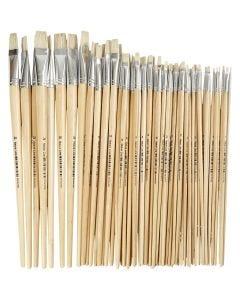 Pinceau Nature Line, dim. 1-20, L: 5-19 mm, manches longs, 64 pièce/ 1 Pq.