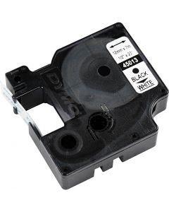 Cassette Dymo D1, L: 12 mm, blanc, 7 m/ 1 rouleau