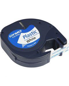 DYMO Ruban plastique, L: 4 m, L: 12 mm, blanc, 4 m/ 1 rouleau