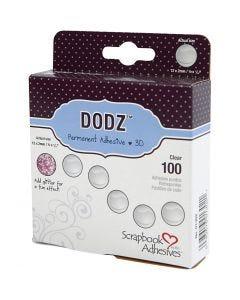 DODZ points autocollants, d: 12 mm, ép. 2 mm, 100 pièce/ 1 Pq.