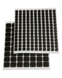 3D Foam Squares, dim. 5x5x2 mm, noir, 217 ass./ 1 Pq.
