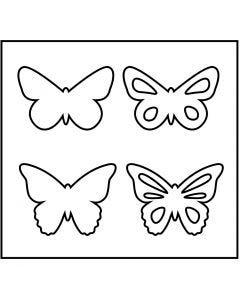 Gabarit de coupe en acier, papillon, dim. 14x15,25 cm, ép. 15 mm, 1 pièce