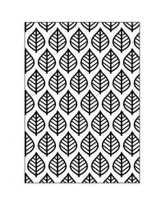 Gabarit d'embossage, Motif de feuilles, dim. 13x18,5 cm, ép. 2 mm, 1 pièce