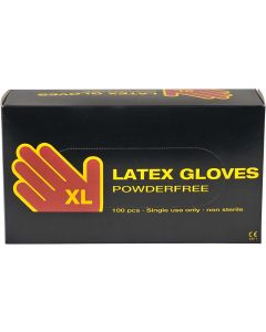 Gants de latex, dim. x-large , 100 pièce/ 1 Pq.
