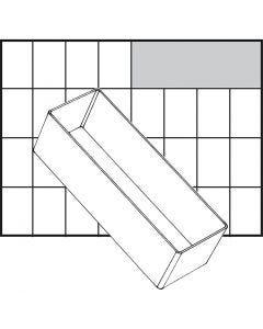 Godet de rangement, dim. A8-2, H: 47 mm, dim. 157x55 mm, 1 pièce