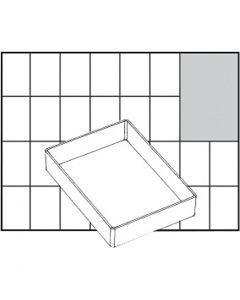 Godet de rangement, dim. A71 Low, H: 24 mm, dim. 109x79 mm, 1 pièce