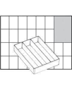 Godet de rangement, dim. A73 Low, H: 24 mm, dim. 109x79 mm, 1 pièce