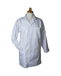 Blouse de laboratoire, L: 85 cm, dim. large , Longueur des manches: 61cm , blanc, 1 pièce