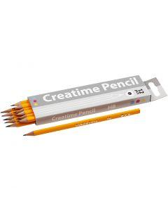 Crayons pour école, L: 17,5 cm, dureté HB, ép. 7 mm, mine 2 mm, 12 pièce/ 1 Pq.