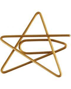 Trombones, étoile, dim. 30x30 mm, or, 6 pièce/ 1 Pq.