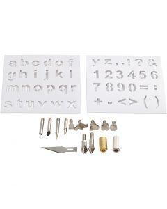 Embouts métalliques, d: 1-15 mm, 1 set