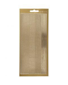Autocollants, bordures, 10x23 cm, or, 1 flles