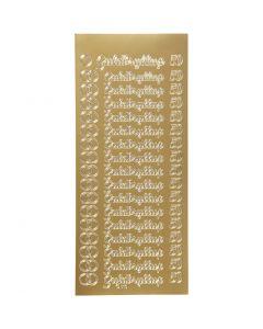 Autocollants, guldbryllup, 10x23 cm, or, 1 flles