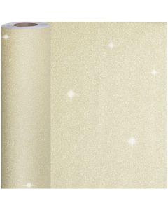 Papier cadeau, L: 50 cm, 80 gr, or, 100 m/ 1 rouleau