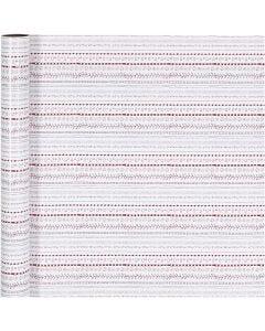 Papier cadeau, doodles, L: 70 cm, 80 gr, rouge, blanc, 4 m/ 1 rouleau