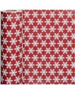 Papier cadeau, Cristaux de glace, L: 50 cm, 80 gr, 100 m/ 1 rouleau