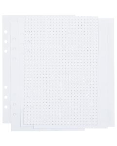 Pages d'agenda, à points, dim. 142x210 mm, 36 , 120 gr, blanc, 1 pièce/ 1 Pq.