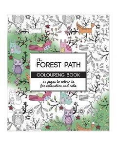 Livre de coloriage anti-stress, The Forest Path, dim. 19,5x23 cm, 64 , 1 pièce