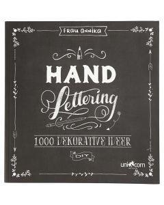 Lettrage à la main - 1000 idées, dim. 22x23 cm, ép. 2 cm, 143 , 1 pièce