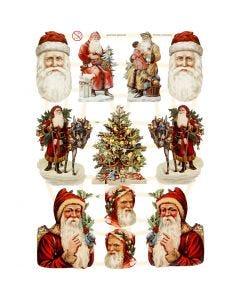 Découpes vintage, Noël, 16,5x23,5 cm, 3 flles/ 1 Pq.