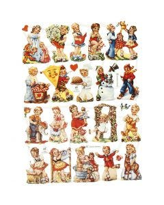 Découpes vintage, enfants nostalgiques, 16,5x23,5 cm, 2 flles/ 1 Pq.