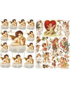 Découpes vintage, Anges, 16,5x23,5 cm, 2 flles/ 1 Pq.