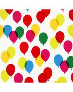 Papier cadeau, ballons, L: 57 cm, 80 gr, 150 m/ 1 rouleau
