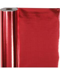 Papier cadeau, L: 50 cm, 65 gr, rouge, 100 m/ 1 rouleau