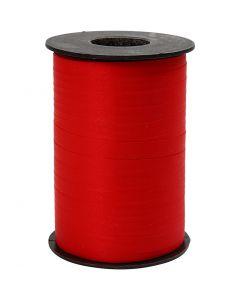 Ruban cadeau, L: 10 mm, mate, rouge, 250 m/ 1 rouleau