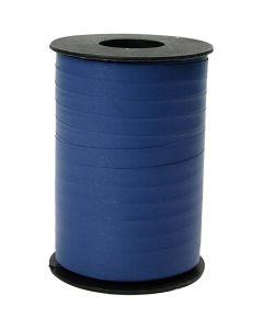 Ruban cadeau, L: 10 mm, mate, bleu, 250 m/ 1 rouleau
