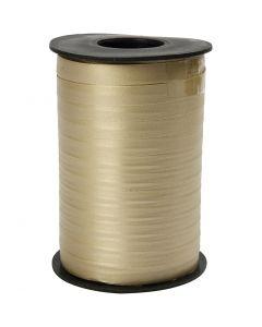 Ruban cadeau, L: 10 mm, mate, or, 250 m/ 1 rouleau