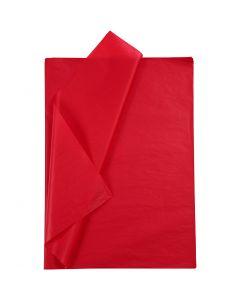 Papier de soie, 50x70 cm, 14 gr, rouge, 10 flles/ 1 Pq.
