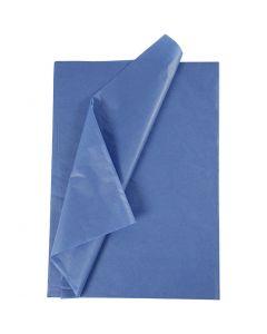 Papier de soie, 50x70 cm, 14 gr, bleu, 10 flles/ 1 Pq.