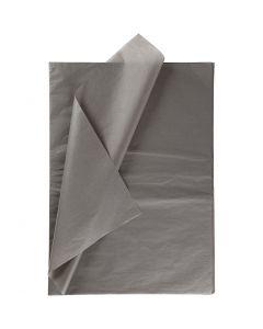 Papier de soie, 50x70 cm, 14 gr, gris foncé, 10 flles/ 1 Pq.