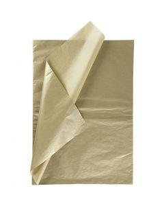 Papier de soie, 50x70 cm, 14 gr, or, 6 flles/ 1 Pq.
