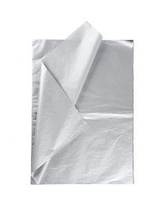 Papier de soie, 50x70 cm, 14 gr, argent, 6 flles/ 1 Pq.