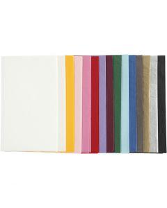 Papier de soie, 50x70 cm, 14 gr, couleurs assorties, 15x2 flles/ 1 Pq.