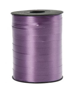 Ruban cadeau, L: 10 mm, brillante, violet, 250 m/ 1 rouleau