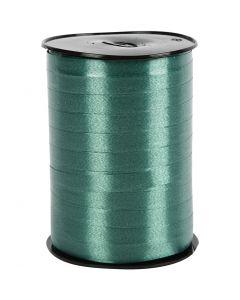 Ruban cadeau, L: 10 mm, brillante, vert foncé, 250 m/ 1 rouleau