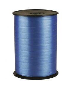 Ruban cadeau, L: 10 mm, brillante, bleu, 250 m/ 1 rouleau