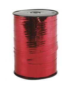 Ruban cadeau, L: 10 mm, brillante, rouge métallique, 250 m/ 1 rouleau