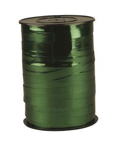 Ruban cadeau, L: 10 mm, brillante, vert métallique, 250 m/ 1 rouleau